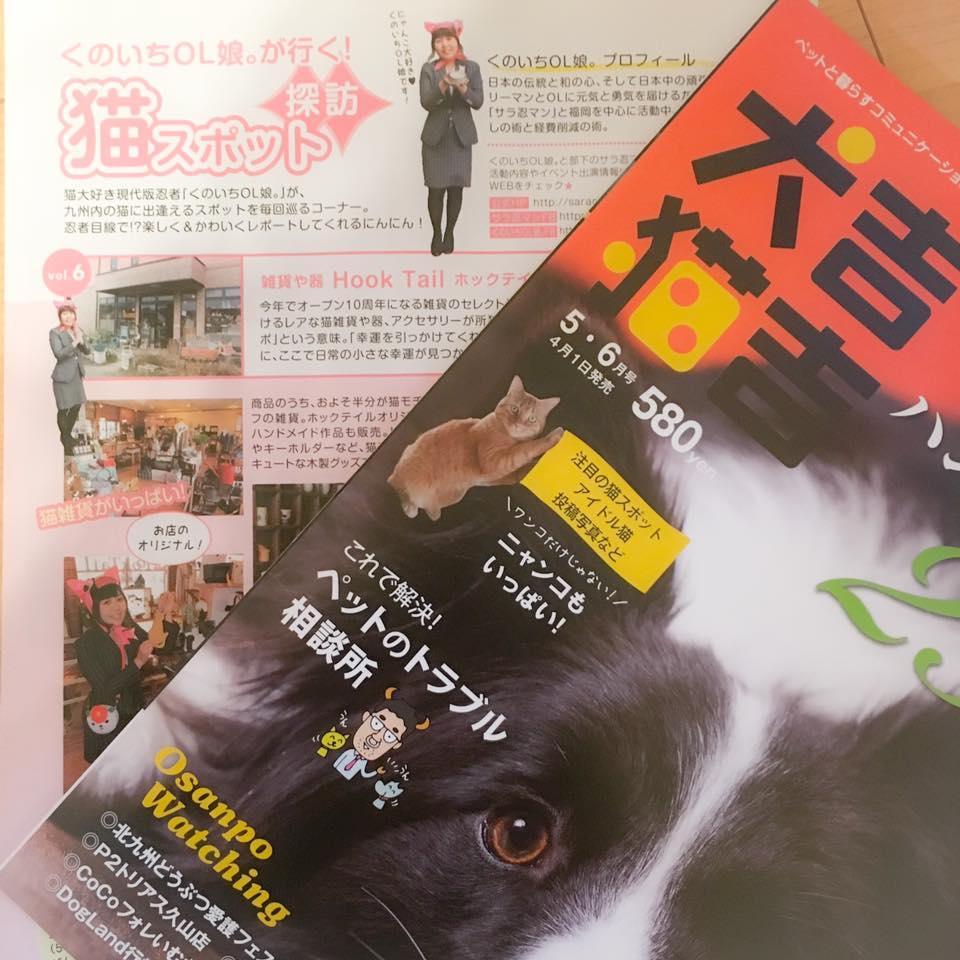犬吉猫吉九州版「くのいちOL娘。が行く!猫スポット探訪」5・6月号